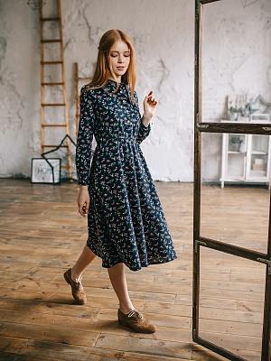 f0adad840e67 картинка Платье тёплое в цветочек интернет магазин являющийся официальным  дистрибьютором в России ...